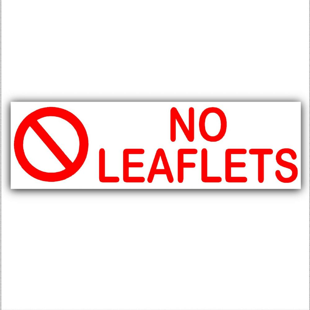 1 x No Leaflets-Letterbox Warning House Sticker-Self Adhesive Vinyl Door Notice Sign  sc 1 st  Platinum Place & 1 x No Leaflets-Letterbox Warning House Sticker-Self Adhesive Vinyl ...